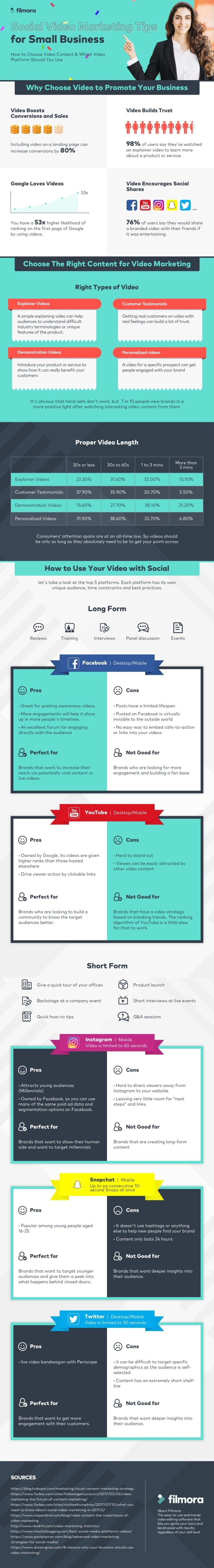 Infografik Video Marketing